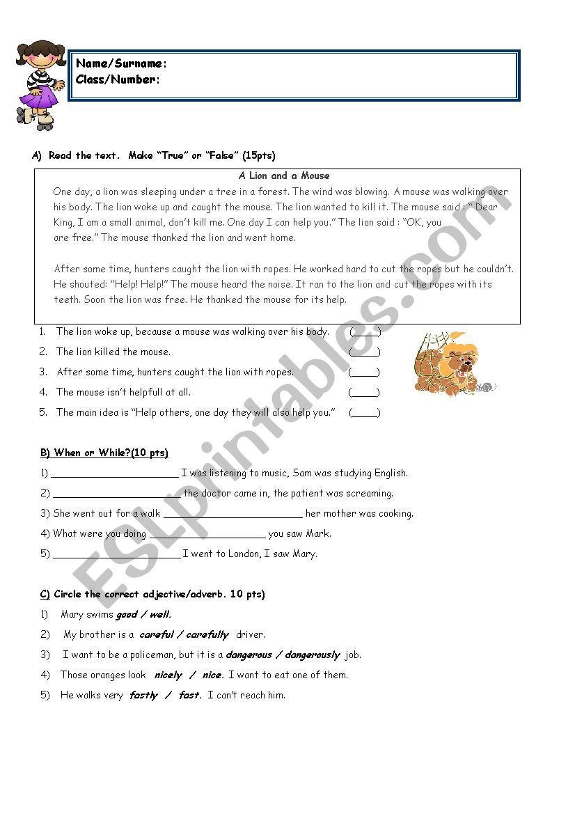 hight resolution of 8th grade with reading - ESL worksheet by sukrupasa