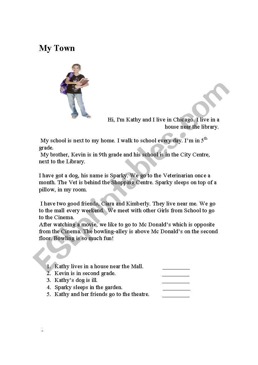 medium resolution of My Town - ESL worksheet by Fanny-fresh