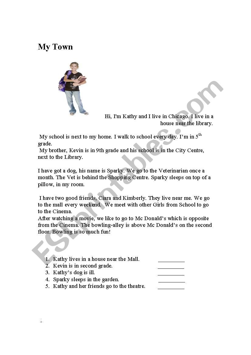 hight resolution of My Town - ESL worksheet by Fanny-fresh