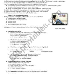 Reading and writing comprehension test - 9th grade - ESL worksheet by  RuiJorge [ 1169 x 826 Pixel ]