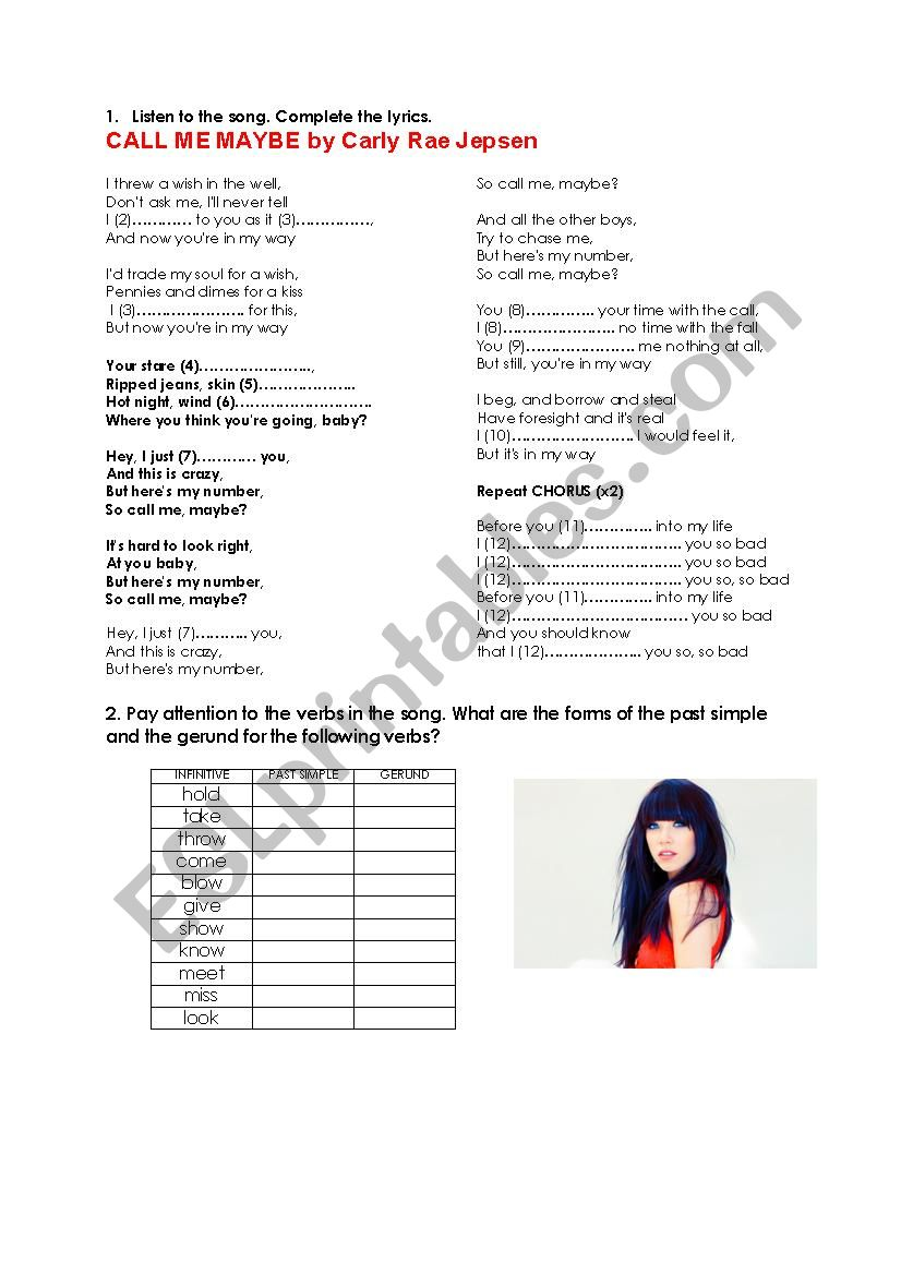 Simple Past Exercises Worksheet