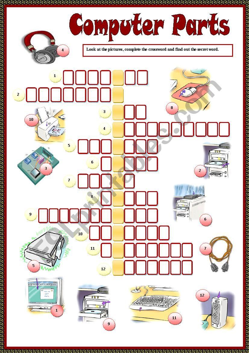 Parts Of Computer Crossword