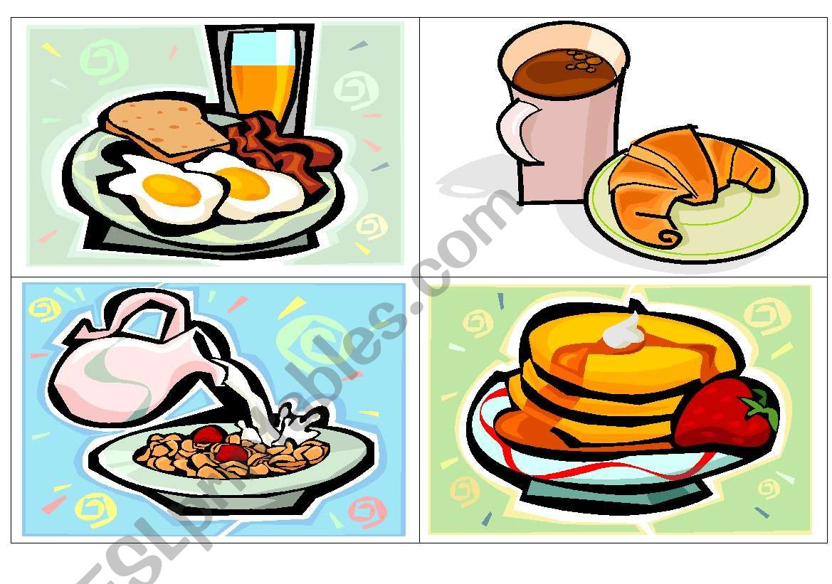 Breakfast Flash Cards