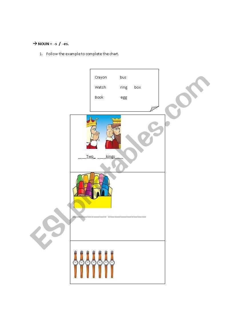 medium resolution of plural nouns - ESL worksheet by pao-m-g