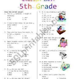 5th Grade Final Exam - ESL worksheet by Rhae [ 1169 x 826 Pixel ]