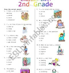 2nd Grade Final Exam #1 - ESL worksheet by Rhae [ 1169 x 826 Pixel ]