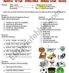 Adverbs of Frequency - ESL worksheet by tashaleks [ 1169 x 826 Pixel ]
