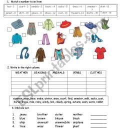 Clothes - ESL worksheet by schulzi [ 1169 x 826 Pixel ]