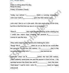 Tenses Quiz for Grade 4 - ESL worksheet by Jsbebr [ 1169 x 826 Pixel ]