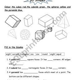 3D Shapes - ESL worksheet by jcar0045 [ 1169 x 826 Pixel ]