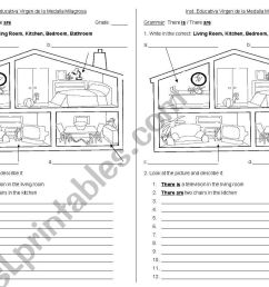 house - ESL worksheet by cire.je [ 821 x 1169 Pixel ]
