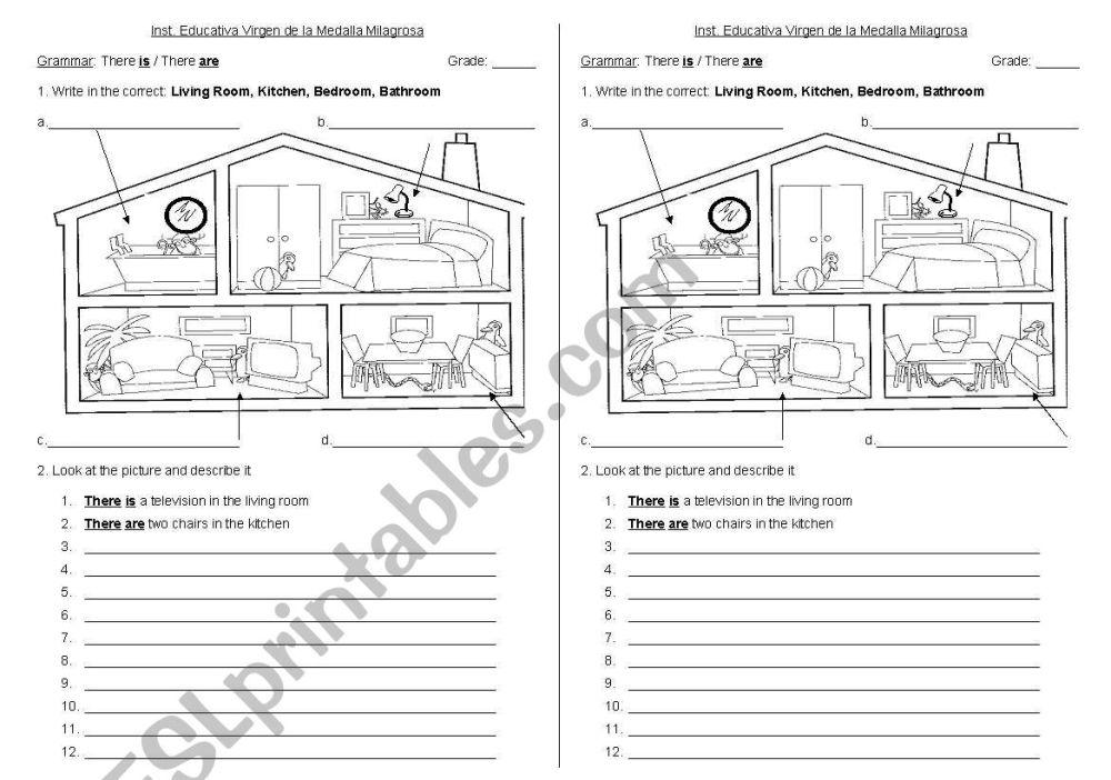 medium resolution of house - ESL worksheet by cire.je
