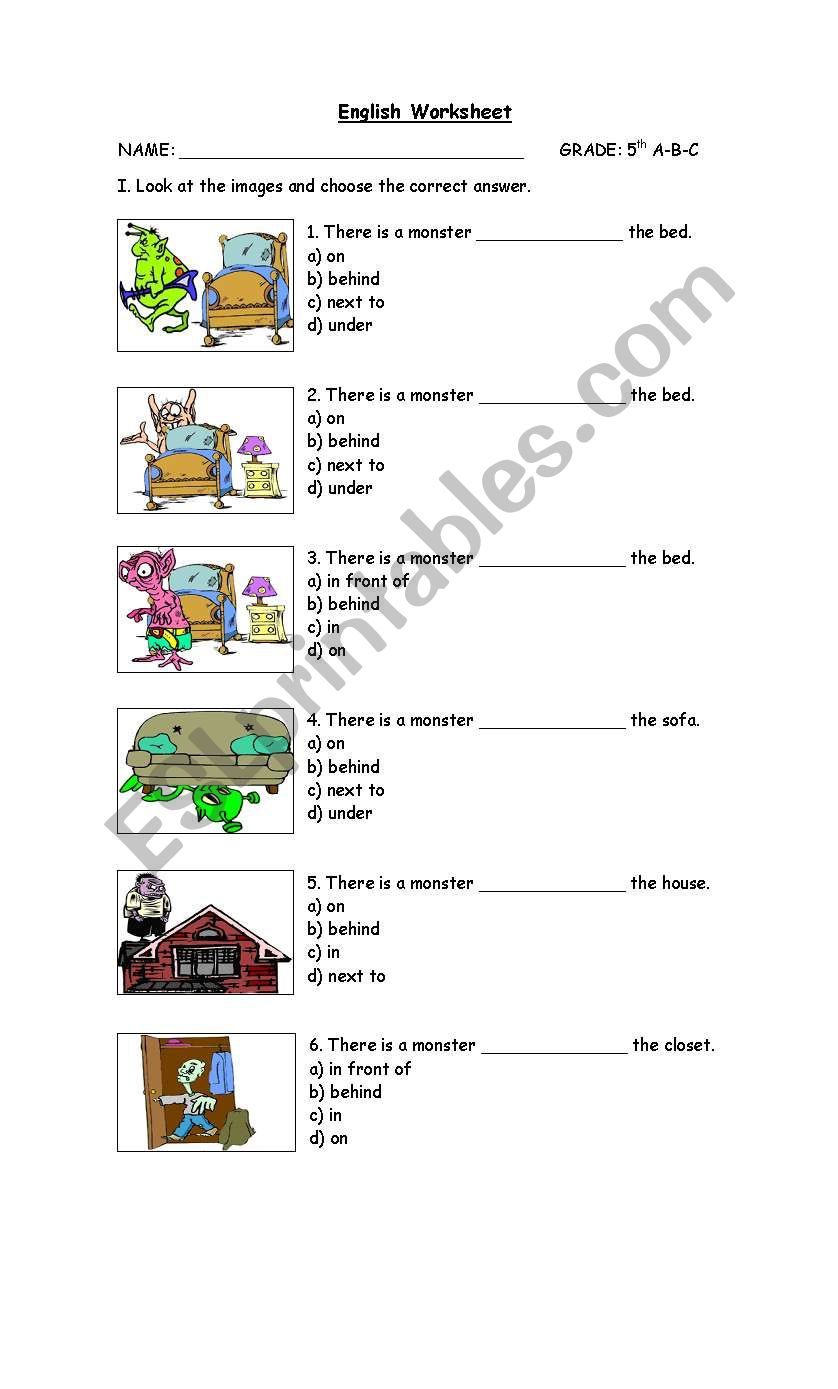 hight resolution of prepositions - ESL worksheet by cathypin