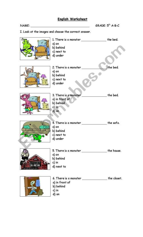 small resolution of prepositions - ESL worksheet by cathypin