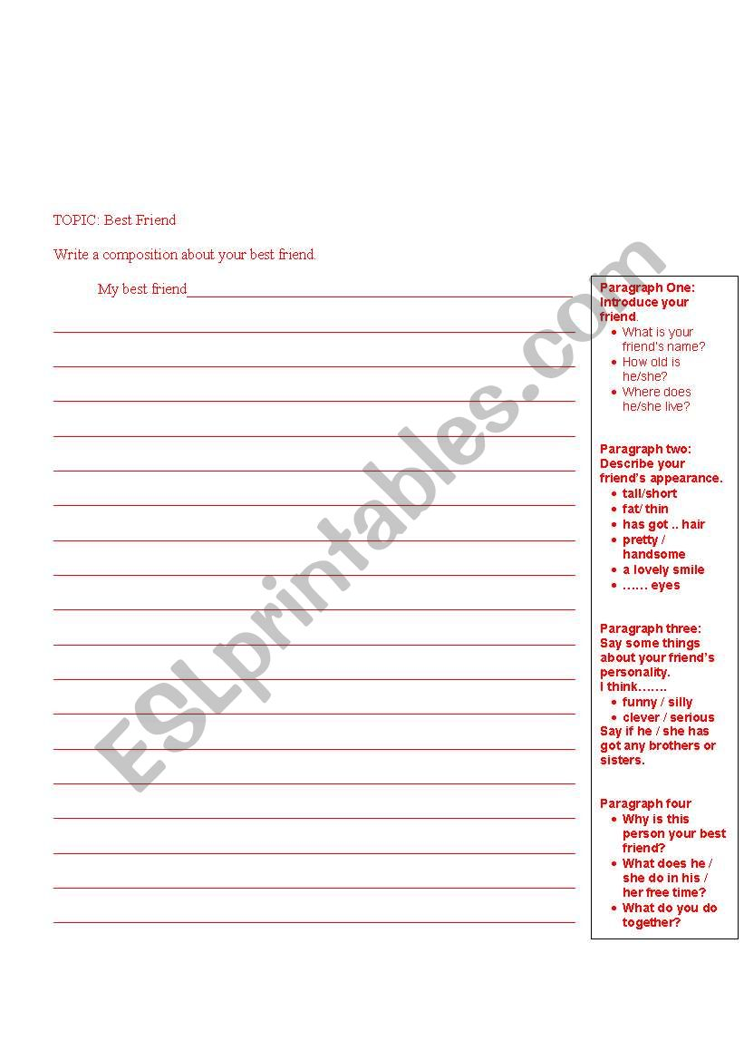 Very Guided Writing Outline