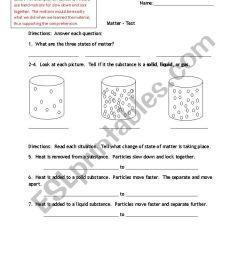Matter Test for grade 6 - ESL worksheet by smd1979 [ 1169 x 826 Pixel ]