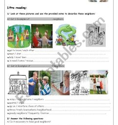 Are Neighbours Necessary? - ESL worksheet by youda [ 1169 x 826 Pixel ]