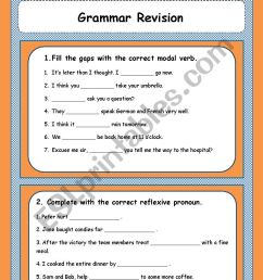 Grammar revision 9th grade - ESL worksheet by Sónia Maria [ 1169 x 826 Pixel ]