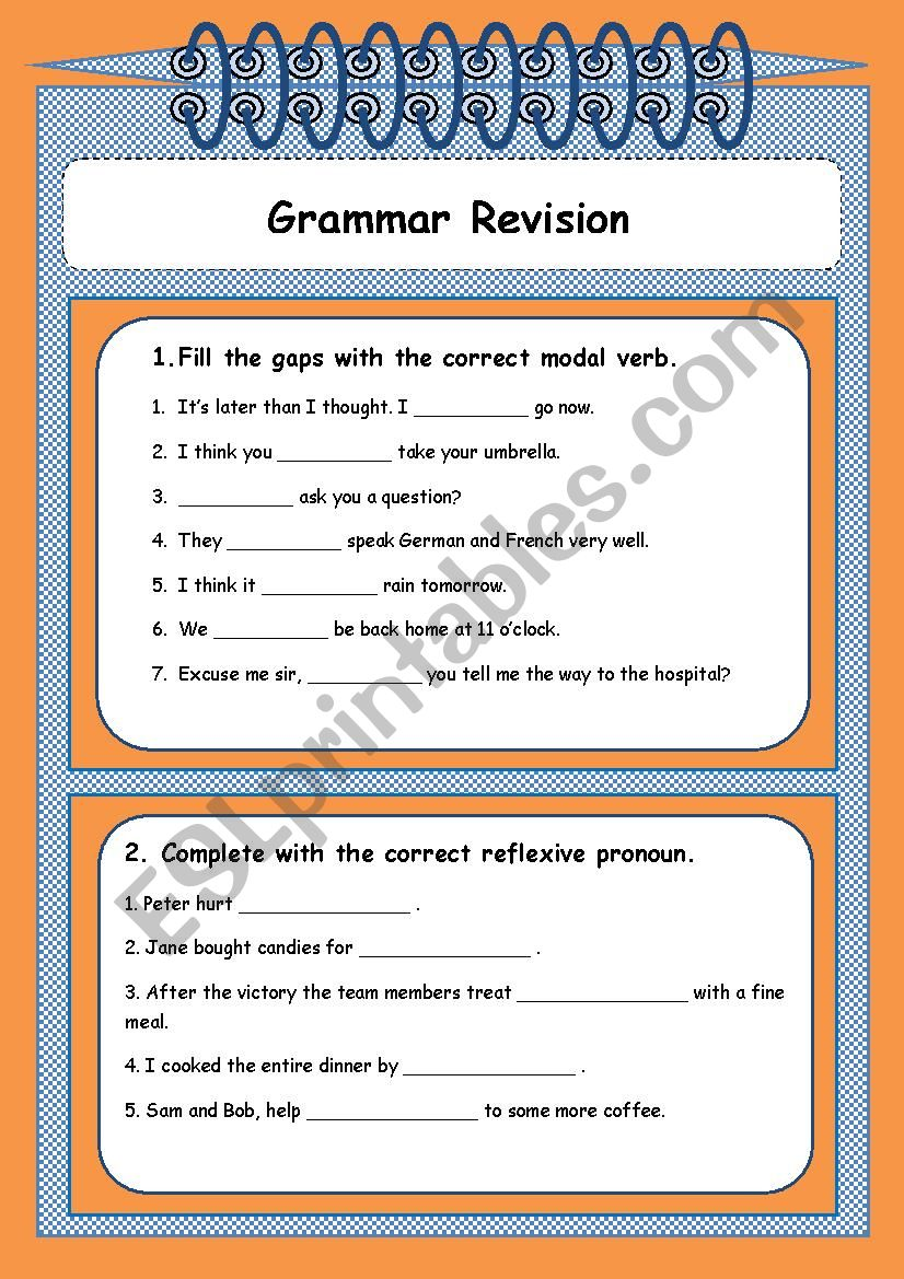 medium resolution of Grammar revision 9th grade - ESL worksheet by Sónia Maria