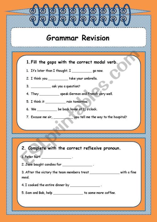 small resolution of Grammar revision 9th grade - ESL worksheet by Sónia Maria