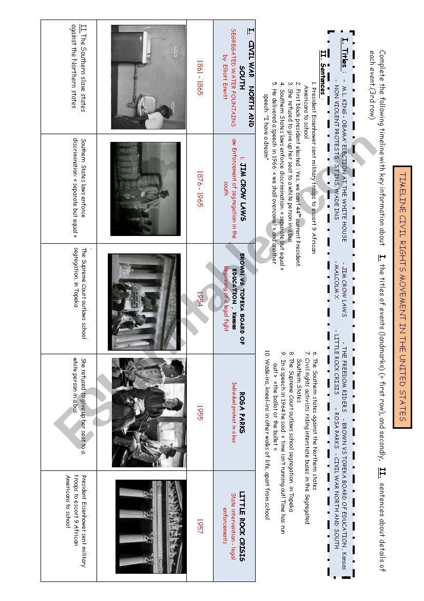 medium resolution of 32 Civil Rights Timeline Worksheet - Worksheet Resource Plans