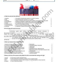 Consumer society - vocabulary - ESL worksheet by sandramaisa [ 1130 x 800 Pixel ]