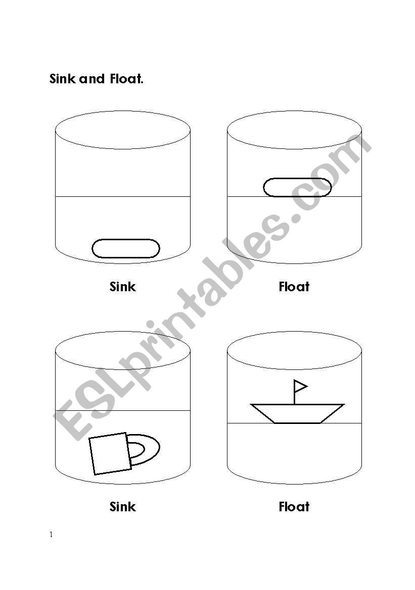English worksheets: Sink and Float