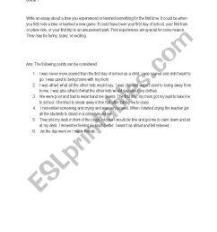 Narrative writing - ESL worksheet by sonal28 [ 1169 x 826 Pixel ]
