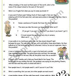 Brain teasers - ESL worksheet by pocza [ 1169 x 821 Pixel ]