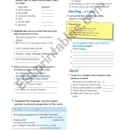 present continuous 7th grade - ESL worksheet by cami787 [ 1400 x 850 Pixel ]