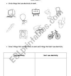 Electricity - ESL worksheet by TreeofLight [ 1169 x 826 Pixel ]