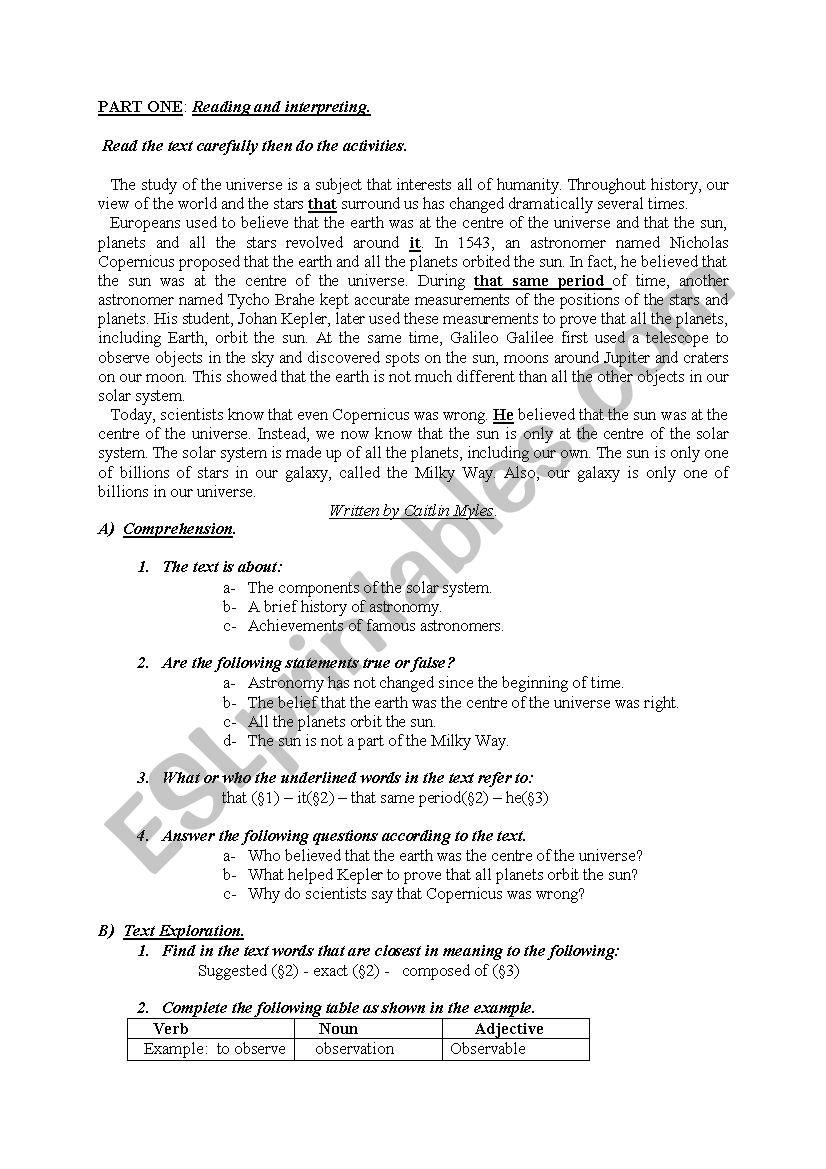 hight resolution of Astronomy Worksheets - Carinewbi
