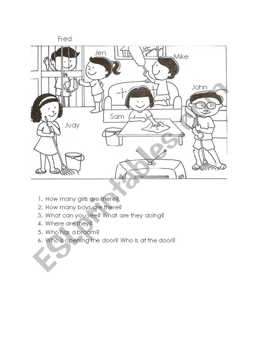 medium resolution of Picture description oral - grade 1 - ESL worksheet by gclayton