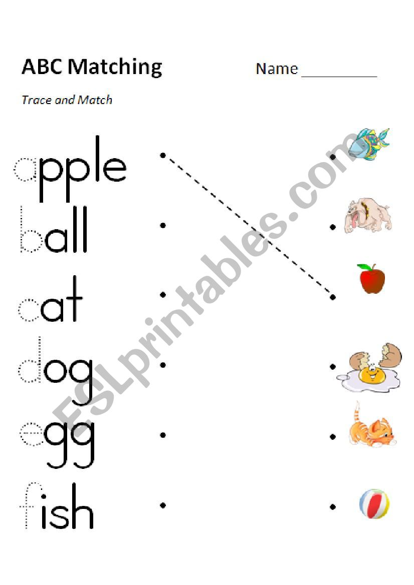 ABC Phonics Matching (e-f) 3 Versions in Color and