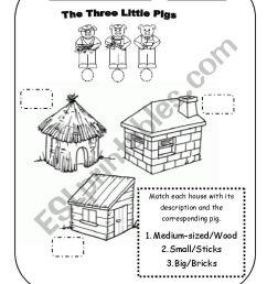 the three little pigs worksheet [ 826 x 1169 Pixel ]