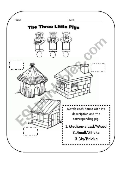small resolution of the three little pigs worksheet