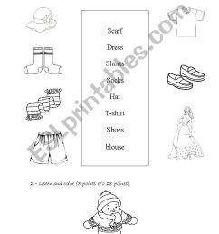 clothes - ESL worksheet by romy [ 1400 x 850 Pixel ]