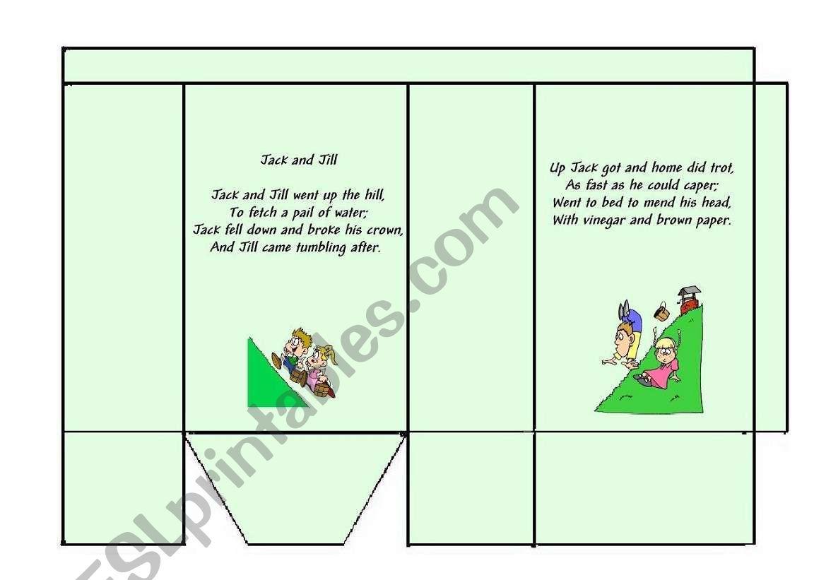 English Worksheets Jack And Jill