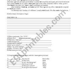 English exercises- 6 grade-simple presente and interrogative pronouns - ESL  worksheet by Cinara1970 [ 1169 x 826 Pixel ]