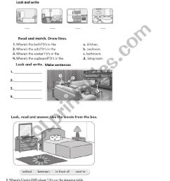 BIG ENGLISH 2 unit 3 \My house\ - ESL worksheet by petiteteacher [ 1169 x 826 Pixel ]