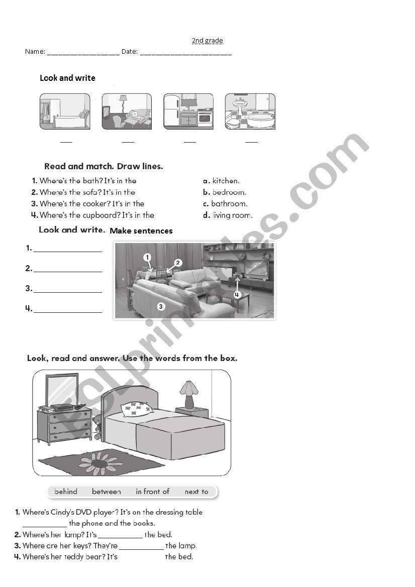 medium resolution of BIG ENGLISH 2 unit 3 \My house\ - ESL worksheet by petiteteacher