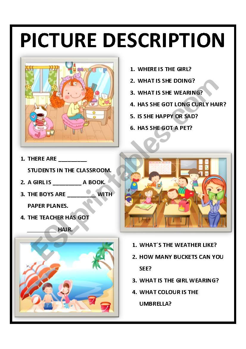 hight resolution of PICTURE DESCRIPTION FOR KIDS - ESL worksheet by mariasoldossantos