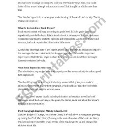 How to write a book report - ESL worksheet by flkpt [ 1169 x 826 Pixel ]