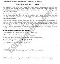 Electricity Today - ESL worksheet by Isabella31 [ 1169 x 826 Pixel ]