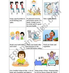 Healthy habits - ESL worksheet by risas [ 1169 x 826 Pixel ]