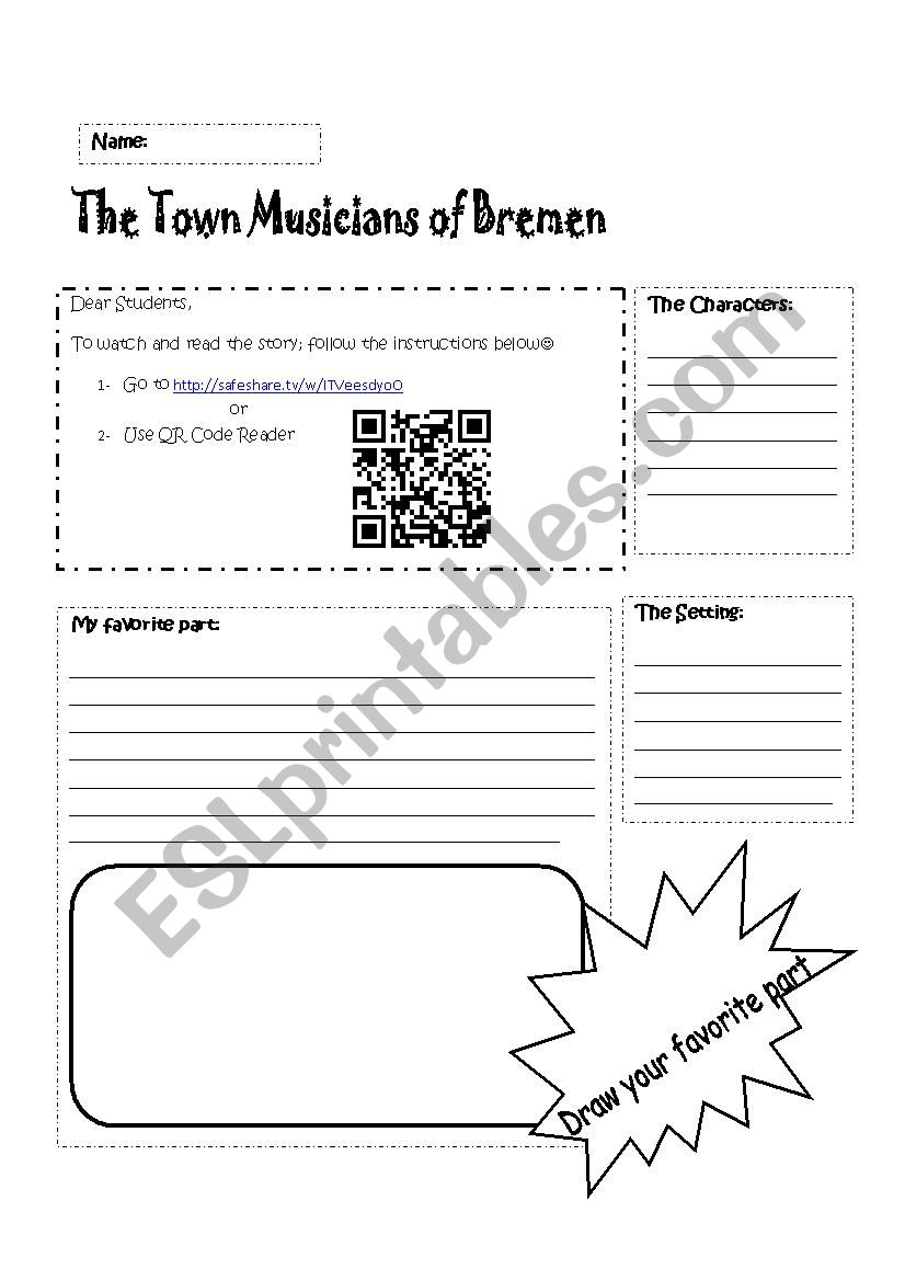 English worksheets: The Bremen Town Musicians