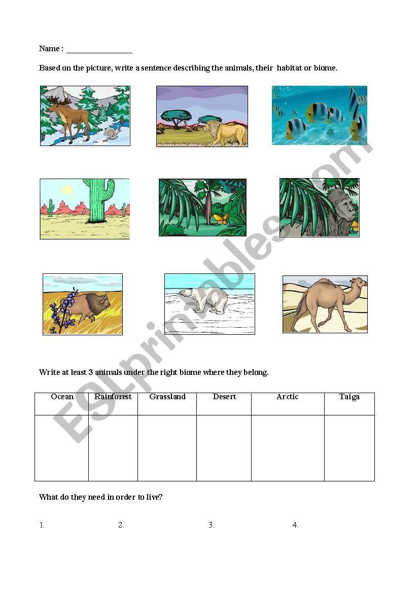medium resolution of Biomes - ESL worksheet by lorenzojoezel@gmail.com