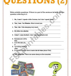 Make questions 2 - ESL worksheet by cris_ti_na [ 1169 x 826 Pixel ]