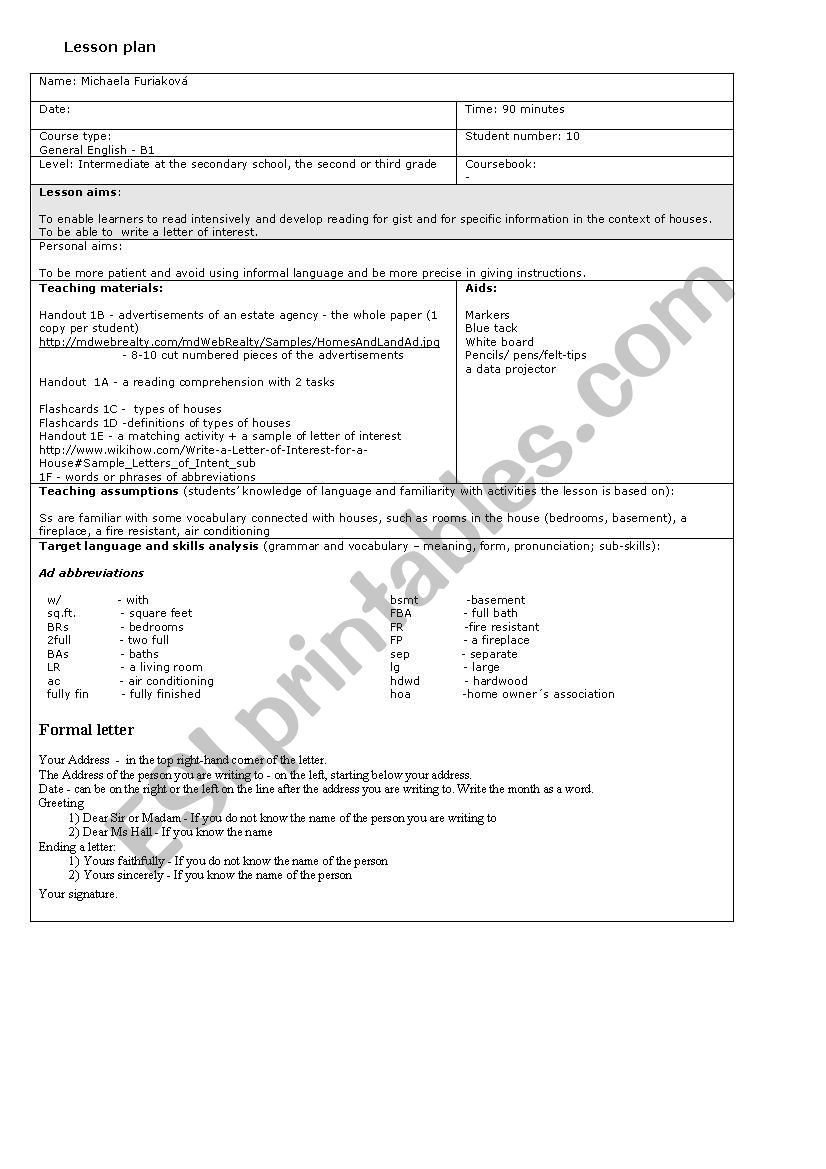 hight resolution of Houses and living - ESL worksheet by little_mishka