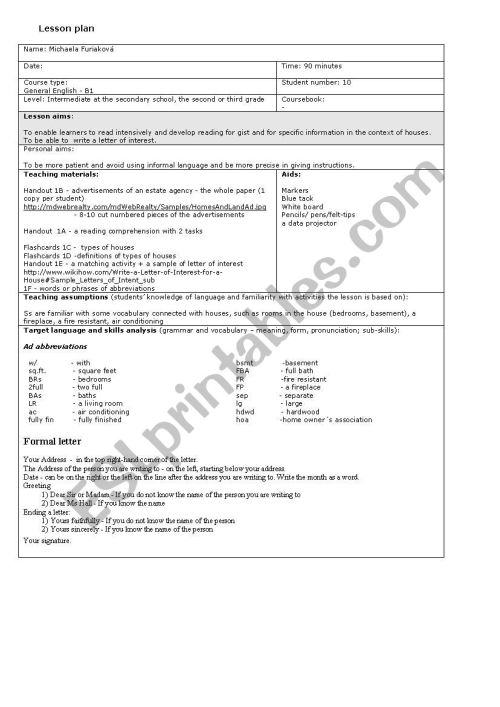 small resolution of Houses and living - ESL worksheet by little_mishka